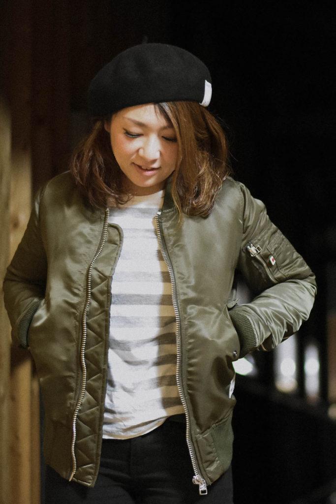 MA-1 Jacket / Olive & Navy color