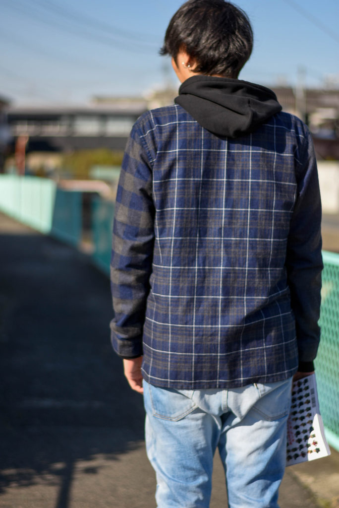 Indigo check cardigan crazy