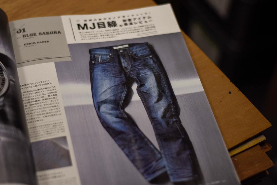 Men's JOKER; written about our spirit of Japanese quality.