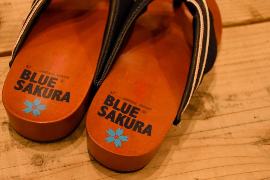 """DENTO"" BLUE SAKURA × mizutori JAPANESE ""GETA"""