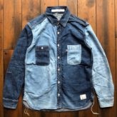 "NEW ARRIVAL DENIM COMBI SHIRT ""bi-color ver"""